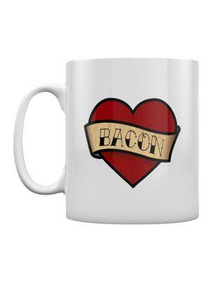 Love Bacon 10oz Ceramic Mug, White