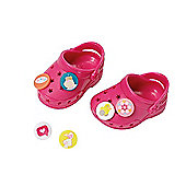 Baby Born Customisable Pin Shoes - Dark Pink