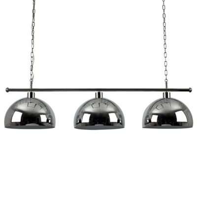 MiniSun Gulliver 3 Way LED Ceiling Light with Curva Shades - 6500K - Silver