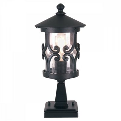 Black Pedestal Lantern - 1 x 100W E27