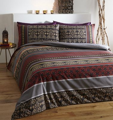 Fusion duvet cover set - single - red