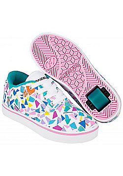 Heelys Launch White/Teal/Multi Geo Heely Shoe - White