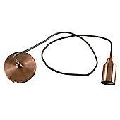 Designer Style Suspended Lamp holder Ceiling Light, Copper