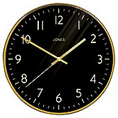 Jones The Studio Gold Wall Clock
