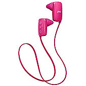 JVC Gummy Bluetooth Sports In-Ear Headphones - Pink