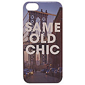 Tortoise™ Hard Protective Case, iPhone 5/5S, Same Old Chic motto Brooklyn Bridge design, Multi.