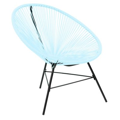 Charles Bentley Single Acapulco Chair In Pastel Blue