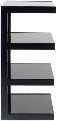 NORSTONE ESSE HIFI 4 SHELF HIFI RACK (BLACK FRAME/BLACK GLASS)