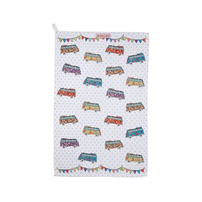 Churchill China The Caravan Trail Campers Teatowel 73cm by 47.5cm