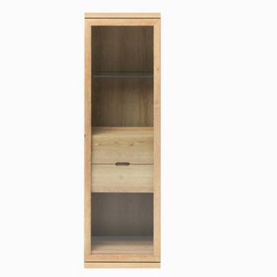 Caxton Darwin 1 Glazed Door Display Cabinet in Chestnut