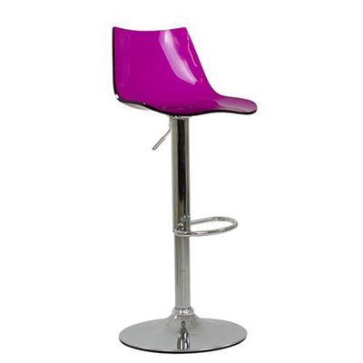 Amazon Gel Acrylic Purple Bar Stool