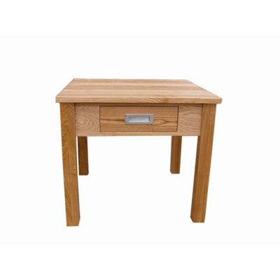 Home Zone Occasional Lamp Table in Solid Oak