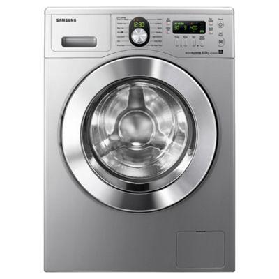 Samsung WF1804WPU2/XEU Ecobubble Washing Machine, 8kg Wash Load, 1400 RPM Spin, A++ Energy Rating. Silver