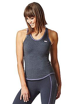 Retro T Back Tank Gym Vest Grey - Grey