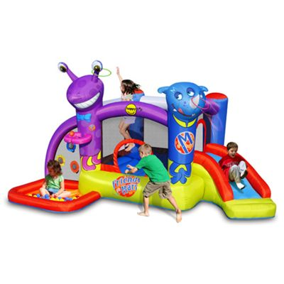 Friends on Mars Bouncy Castle with Slide and Ball Pit