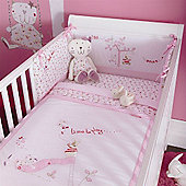 Izziwotnot Time to Play 5 Piece Luxury Coverlet Bedding Bale (Baby Fleur)