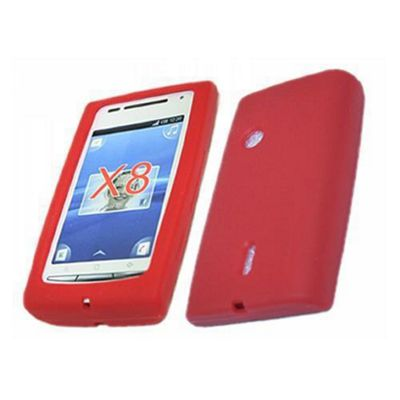 iTALKonline SoftSkin Silicone Case Red - For Sony Ericsson X8 Xperia