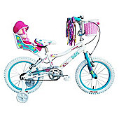 "Tiger Daisy Kids Bike 12"" Wheel White/Green"