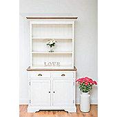 Brocante Welsh Dresser with Shelves