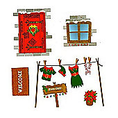 Reusable elf wall stickers