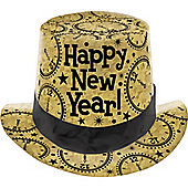 New Year Prismatic Card Top Hat - Gold