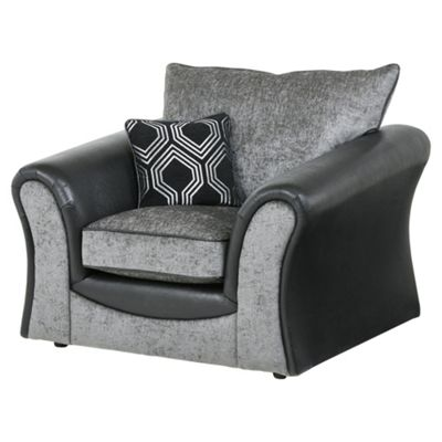 Arabella Armchair, Geometric Dark Grey