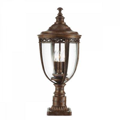 British Bronze 3lt Large Pedestal - 3 x 60W E14