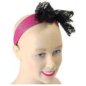 Bristol Novelty - 80's Lace Headband - Pink