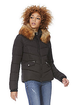 Only Sanna Quilted Puffer Jacket - Black