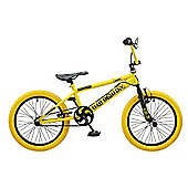 "Rooster BMX Big Daddy 18"" Wheel BMX Bike Yellow / Blk"