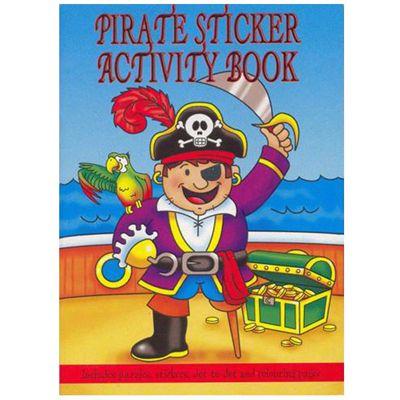A6 Pirate Sticker Activity Book