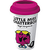 Creative Tops Mr. Men Little Miss Chatterbox Double Walled Porcelain Travel Mug 5139288