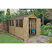 Forest Garden 10x8 Overlap Pressure Treated Double Door Apex Shed