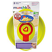 Munchkin White Hot plates (Yellow/Green)
