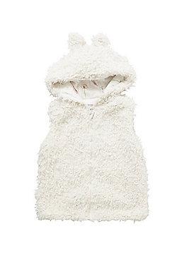 Minoti Faux Fur Hooded Gilet - Cream