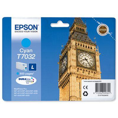 Epson T7032 Standard Ink Cartridge For Epson WorkForce Pro 4000 Series - Cyan