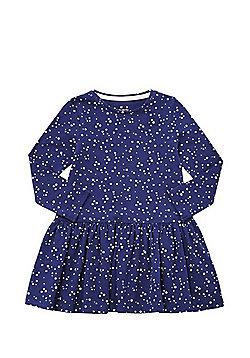 F&F Star Print Flared Dress - Navy
