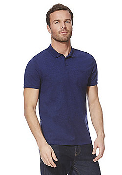 F&F Marl Polo Shirt - Navy