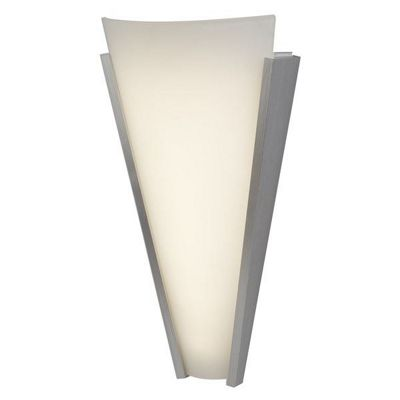 TAPERED LED WALL BRACKET, ALUMINIUM, FROSTED GLASS