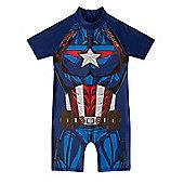 Marvel Comics Boys Surf Suit - Blue