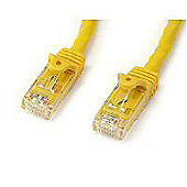 STARTECH - 15m Yellow Gigabit Snagless RJ45 UTP Cat6 Patch Cable - 15 m Patch Cord