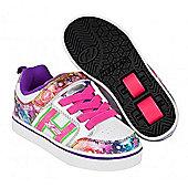 Heelys Bolt Plus White/Silver/Rainbow Heely Shoe - White