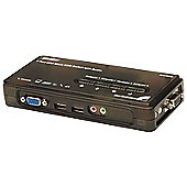StarTech 4 Port Black USB KVM Switch Kit with Cables and Audio