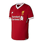 New Balance Liverpool 2017/18 Kids Home Football Jersey Shirt Red - Red