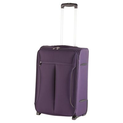 Buy Tesco Lightest 2-Wheel Large Purple/Grey Suitcase from our ...