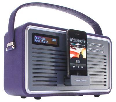 VIEWQUEST RETRO DAB+/FM RADIO WITH IPOD DOCK (PURPLE)