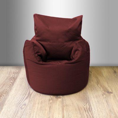 Children's 100% Cotton Twill Pre-Filled Bean Chair, Wine