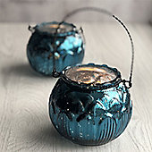 Blue Artichoke Tea Light Holder