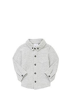 F&F Pique Long Sleeve Shirt - Light grey