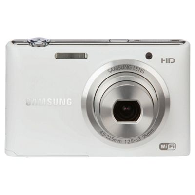 Samsung ST150F Digital Camera, White, 16.3MP, 5x Optical Zoom, 3